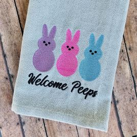 Welcome Peeps – 3 sizes – Digital Embroidery Design