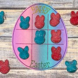ITH – Easter Egg Tic Tac Toe Board – Digital Embroidery Design
