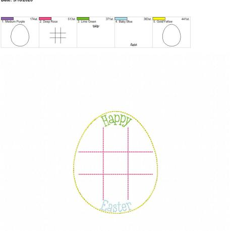 Easter Egg tic tac toe board 4×4