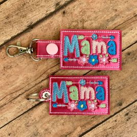 ITH Mama Tab and eyelet Fobs 4×4 and 5×7 included- DIGITAL Embroidery DESIGN