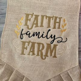 Faith Family Farm – 3 Sizes – Digital Embroidery Design