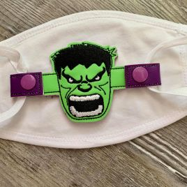 ITH Mask Angry Hero – 2 sizes – DIGITAL Embroidery DESIGN