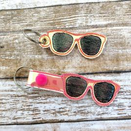 ITH Glasses Fobs 4×4 and 5×7 included- DIGITAL Embroidery DESIGN