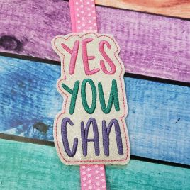 ITH – Yes You Can – Book Band – Digital Embroidery Design