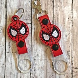 ITH Spider Hero Water Bottle Holders – 4×4 and 5×7 – DIGITAL Embroidery DESIGN