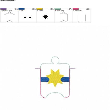 7 point blue line badge Sanitizer-Holder-Eyelet-4-x-4