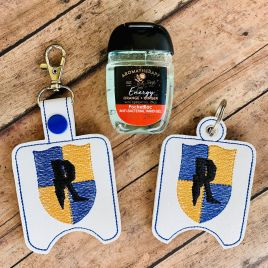 ITH Wizard House R Sanitizer Holders 4×4 and 5×7 included- DIGITAL Embroidery DESIGN