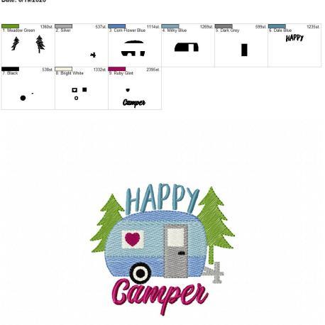 Happy Camper Sketch 4×4