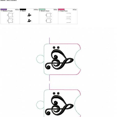Music Love sanitizer holder eyelet 5×7 grouped