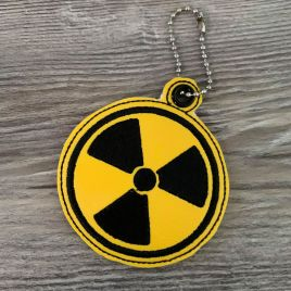 ITH Radiation Fobs 4×4 and 5×7 included- DIGITAL Embroidery DESIGN