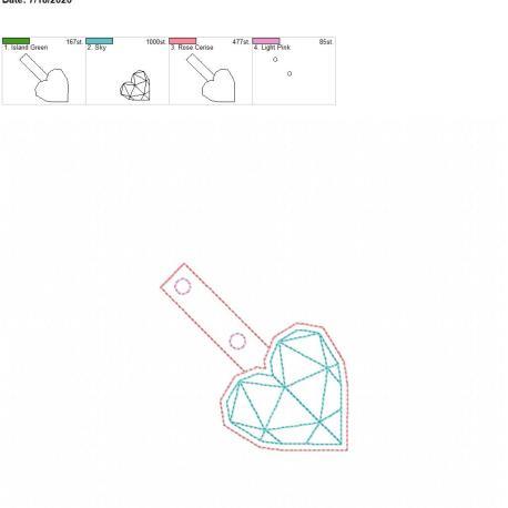 Geometric Heart Snaptab 4×4