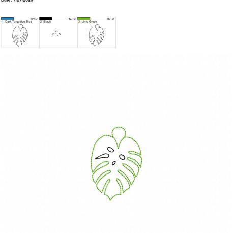 Monstera leaf eyelet 4×4
