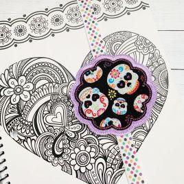 ITH – Scallop Applique – Book Band – Digital Embroidery Design