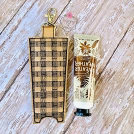 ITH Plaid Hand Cream Holder 5×7 – DIGITAL Embroidery DESIGN