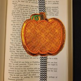 ITH – Plaid Applique Pumpkin – Book Band – Digital Embroidery Design
