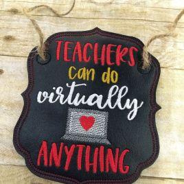 ITH – Virtual Teacher Door Hanger – 3 sizes – Digital Embroidery Design