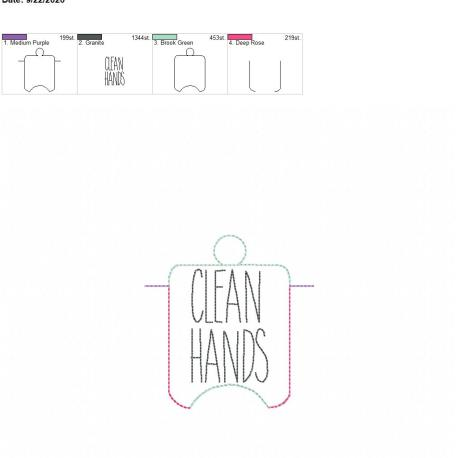 Clean Hands sanitizer holder eyelet 4×4