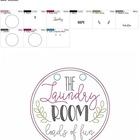 Laundry room loads of fun sign 5×7