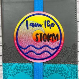 ITH – I Am The Storm – Book Band – Digital Embroidery Design