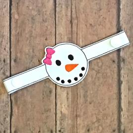 ITH Mask Extender Snowman With Bow – 2 sizes – DIGITAL Embroidery DESIGN