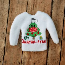 ITH – Oh Quarantree Doll Sweater 5×7 – Digital Embroidery Design