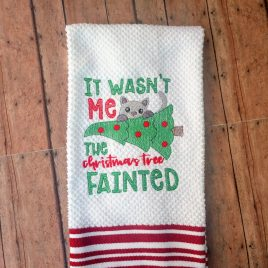 Christmas Tree Fainted – 2 Sizes – Digital Embroidery Design
