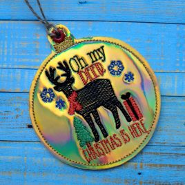Oh My Deer Ornament – Digital Embroidery Design
