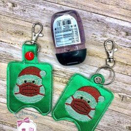 Masked Santa Sanitizer Holders – DIGITAL Embroidery DESIGN
