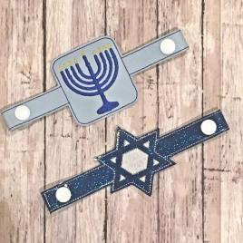 ITH Mask Extender Hanukkah – 2 sizes – DIGITAL Embroidery DESIGN