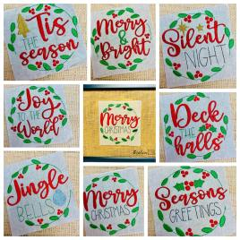 Holiday Frame Saying Set – 5×7 – Digital Embroidery Design