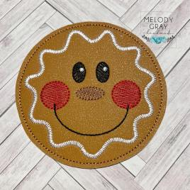 Gingerbread Coaster 4×4 – DIGITAL Embroidery DESIGN