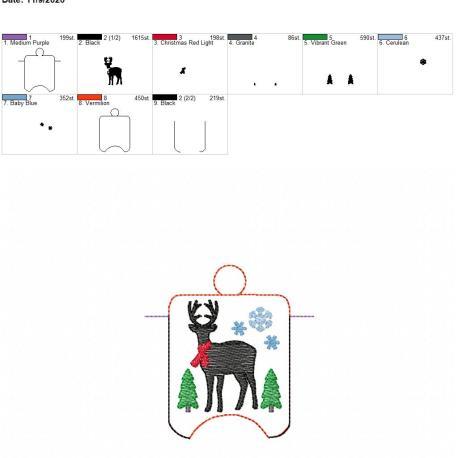 Farmhouse Deer sanitizer holder eyelet 4×4