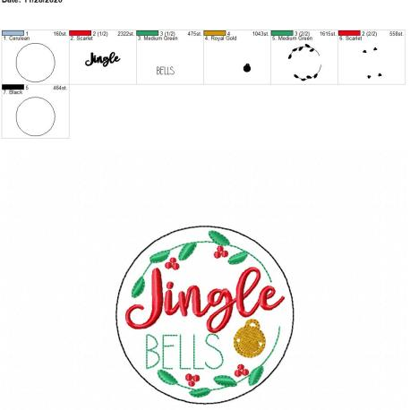 Jingle Bells coaster 4×4