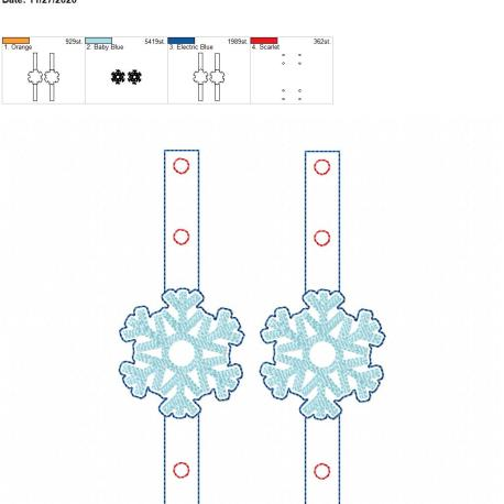 Mask Extender Snowflake 5×7 grouped