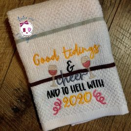 Good Tidings and Cheer – 2 sizes – Digital Embroidery Design