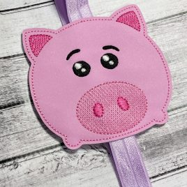 Piggy Toy – Book Band – Embroidery Design, Digital File
