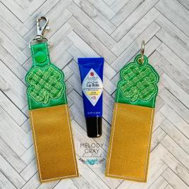 Plaid Shamrock Lip Balm Holders 5×7 – DIGITAL Embroidery DESIGN