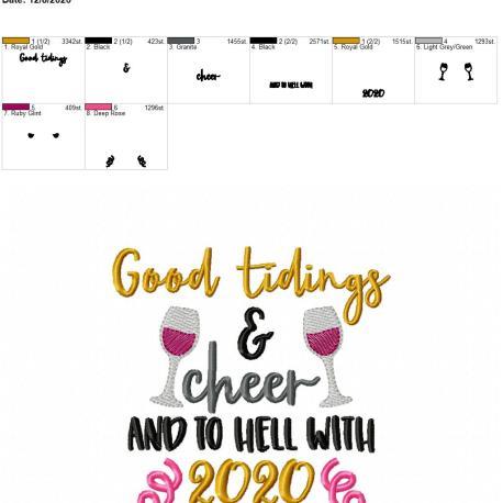 Good tidings and cheer 5×7