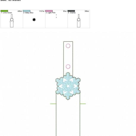 Snowflake Sketch chapstick holder snaptab 5×7