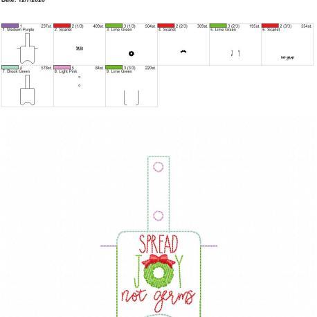 Spread Joy Sanitizer holder snap tab 5×7