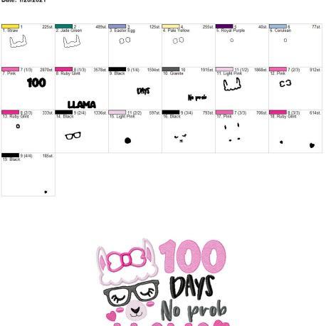 100 Day No Prob Llama 6×10