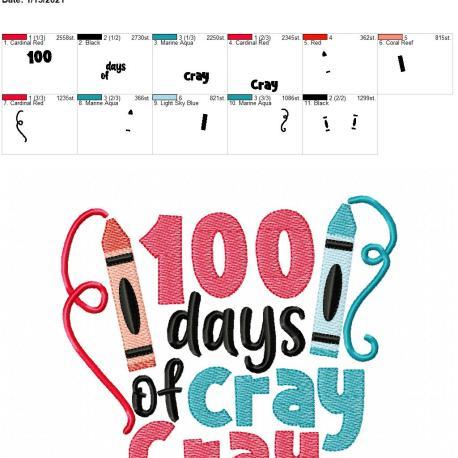 100 days of cray cray 6×10