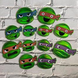 Ninja Felties – 3 sizes – 4×4 and 5×7 Grouped- Digital Embroidery Design
