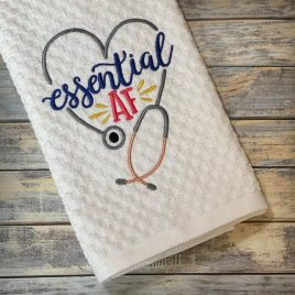 Essential AF – 4 sizes- Digital Embroidery Design