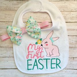 My First Easter Girl – 2 sizes- Digital Embroidery Design