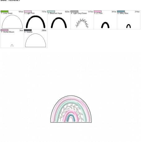 Boho Rainbow 2.5 inch feltie