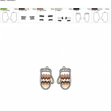 Mitten Earrings