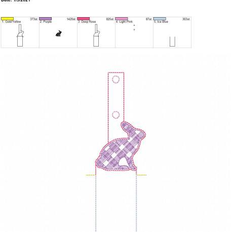 Plaid Bunny Lip Balm holder 5×7