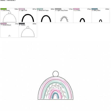 boho rainbow eyelet 4×4