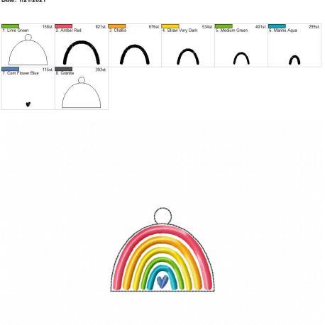 boho rainbow heart eyelet 4×4
